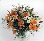 Votre fleuriste : commanderBeau bouquet en camaieu orange